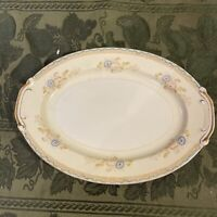 "Antique National China, Made in Japan, 12""x8.75"" Platter"