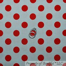 BonEful FABRIC Cotton Quilt Red Gray Ohio State Polka Dot Stripe Buckeye L SCRAP