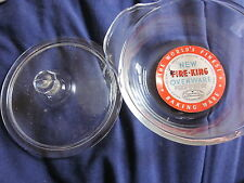 """New/Old Stock Fire King 5"""" Dish with Lid and Tag"""