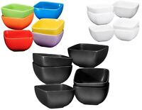 6 Piece Large Porcelain Square Bowls Durable Non-toxic Ceramic Bowls Set 26 Oz