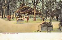SAVANNAH GEORGIA~FORSYTH PARK POSTCARD-1910s