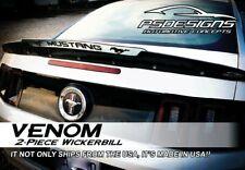 2 Piece 10-14 Ford Mustang Rear Wicker Bill wickerbill Spoiler W/ Rivnut tool