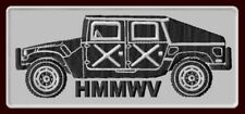 """HMMWV HUMVEE EMBROIDERED PATCH ~4-5/8"""" x 2"""" ALPHA MILITARY JEEP HUMMER H1 SUV"""