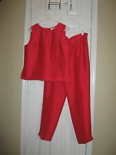 Gorgeous Silk JUDITH HART Pants and Matching Blouse ~ Sz 8 & 10 ~ Hot Pink!