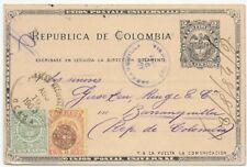 Kolumbien 1901 - Ganzsache - 3 Farben - Inlandsverwendung