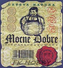 Poland Brewery Lwówek Śląski Mocne Dobre Beer Label Bieretikett Cerveza ls134.5