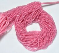 2.50MM Pink Coated Crystal Quartz Faceted Rondelle Gemstone Beads 12 Inch Strand
