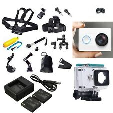 XiaoMi Yi Sports Action Camera Watrerpoof+Accessories Kit+Dual Charger Case PRO