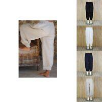 Plus Size Linen Trousers Lagenlook 16 18 20 22 24 26 28 30 32 Ladies Pants 9466