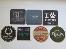 7 Bière Brewery dessous de Verre ~ Rincon, Télégraphe, Hollister, Wolf Creek ,