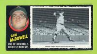 1971 Topps Greatest Moments - Sam McDowell (#50)  Cleveland Indians