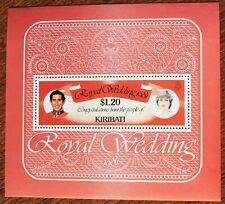 Kiribati – 1981 – Royal Wedding – Minisheet – UM (MNH) (R2)