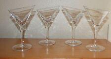 Pier 1 Slanted Rim Martini Glasses -  Crackle Glass Collection - Set of 4