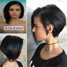 Remy Real Hair Wig Short Bob Straight Wig Glueless Lace Front Human Hair Wigs US