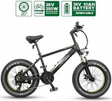 Fat Tire Electric Mountain Bike HOTEBIKE Beach Snow for Adult 36V 350W 21 Speed