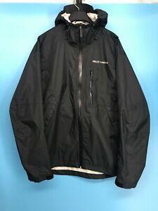 Helly Hansen Men's Black Rain Waterproof Fully Seam Sealed Jacket Size: L
