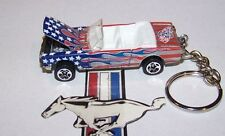 "CUSTOM MADE..1965 MUSTANG CONV. ""AMERICAN FLAG"" KEYCHAIN..GREAT GIFT!"