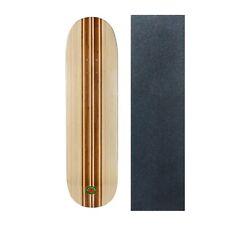 "Rekon Bamboo 8"" 8.25"" 8.5"" Skateboard Deck with Mob Green Glitter Griptape"