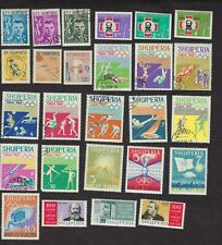 Albania 27 stamps 1959-1964 unused 552a, 604-06, 649-51, 730-33, 767-69, 754-63