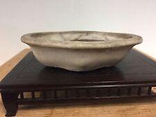 Antique Chinese Nakawatari Era Mokko Shape Shohin Size Bonsai Tree Pot 4 1/2