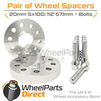Wheel Spacers (2) & Bolts 20mm for VW Polo [Mk6] 18-20 On Aftermarket Wheels