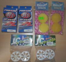 1/10 Fastrax 24mm 7 Spoke White Wheel + Proline Slick Tyre Set NEW