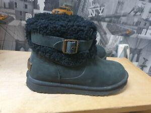 UGG Australia Jocelin Women's Black Leather Boot Size UK 6.5 EU 39