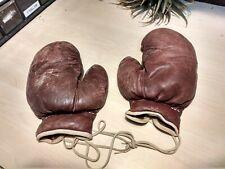 Vtg Leather Spalding Boxing Gloves sz 84 112619