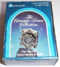 Vintage NOS Amerock Carriage House Mock Deadlock Antique Silver C-9077-AS
