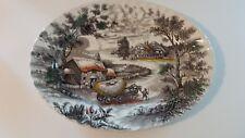 "Yorkshire Staffordshire ironstone Farm Scene Hay Wagon 14"" Platter"