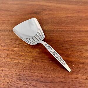WHITING MFG CO. STERLING SILVER CHRYSANTHEMUM PATTERN TEA CADDY / NUT SPOON