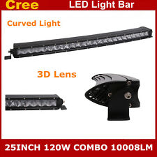 25inch 120W Curved Cree Led Light Bar Flood Spot Combo Truck 4WD UTE Single Row