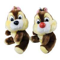 """Disneyland Walt Disney World Chip and Dale 8"""" Plush Toy VTG Disney"""