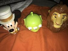 New listing Lot Of Three Disney On Ice Cups Lion King Toy Story Mickey Mouse