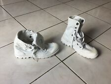 Baskets boots bottines PALLADIUM pointure 40 Blanc bon etat