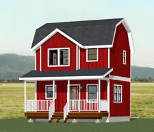 20x16 Tiny House -- PDF Floor Plan -- 537 sq ft -- Model 5
