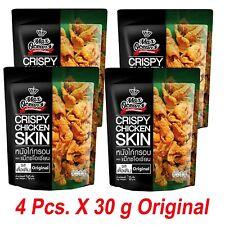4 x 30 g Chicken Skin Crispy Original Flavours Snack Fried Delicious Thai Food