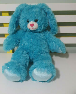 Build A Bear BLUE RABBIT PLUSH TOY SPARKLY  Bunny Rabbit 45CM