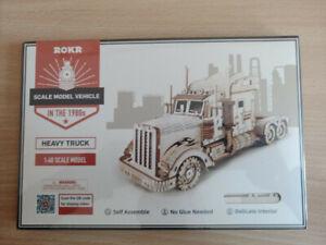Camion, puzzle 3d bois à monter, emballage sous blister