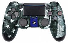 """Blue Stripe Flag"" Ps4 Custom UN-MODDED Controller Exclusive Design CUH-ZCT2U"