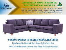 AUSTRALIAN MADE Cosmo (Warwick Rave) 2 pieces Corner Lounge Modular Sofa