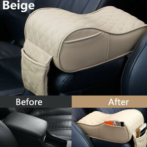 1Pcs PU Leather Pad Cover Car Console Armrest Pad Universal Auto Accessories