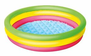 Bestway Swimming Pool 3 Colour Ring Outdoor Activity Paddling Pool