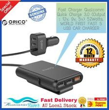 ORICO Portable 52W 5 USB Car Charger with Fast Quick Charge 3.0 Car Charger