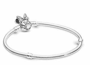New Disney Minnie Mouse Charm Moments Minie Clasp Charm Bracelets