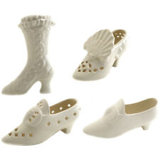 Royal Creamware Miniature Shoe Ornaments, CHOICE OF PIECE, ONE SUPPLIED, NEW