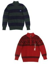 Chaps Boys' ¼ Zip Holiday Pullover Sweater - Select size/color - New with Tags