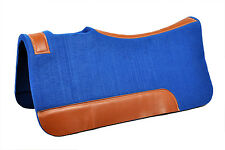 Western Blue Wool Felt Saddle Pad 32 x 32 ( 20MM In Thickness)