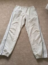 NIKE Vintage 90's Jogging Bottoms Zip Ankles Cream Beige Size XL Retro