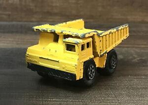 Vintage 1976 Matchbox Superfast Lesney England No. 58 Faun Dump Truck Yellow